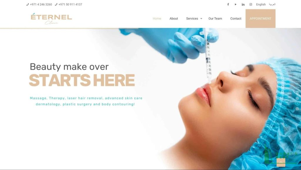 Eternel Clinic's Homepage